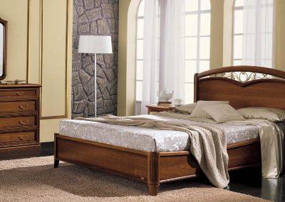 Nostalgia kovácsoltvas betétes ágy