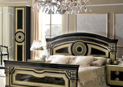 Aida fekete-arany ágy