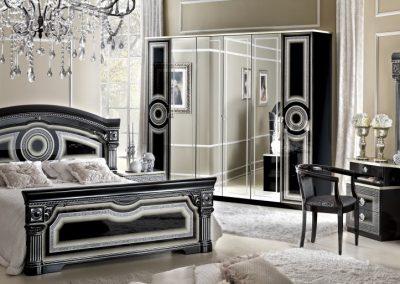 Aida fekete-ezüst 6 ajtós háló