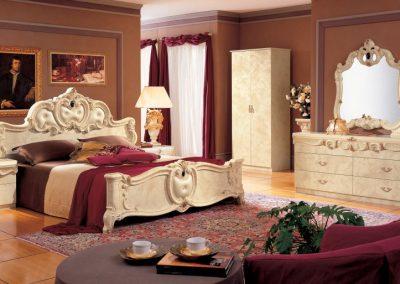 Barocco elefántcsontszínű hálószoba