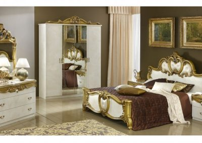 Barocco fehér-arany komplett hálószoba