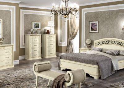 Torriani elefántcsontszínű ágy