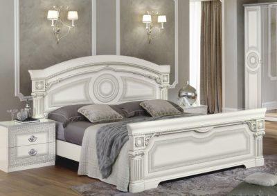 Aida fehér-ezüst ágy