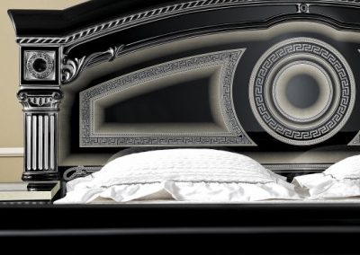 Aida fekete-ezüst ágy