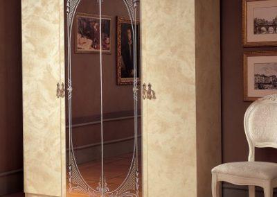 Barocco elefántcsontszínű 4 ajtós szekrény
