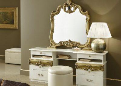 Barocco fehér-arany fésülködőasztal