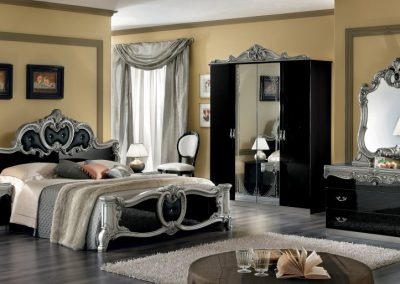 Barocco fekete-ezüst hálószoba