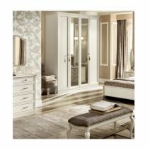 Nosztalgia antik fehér 4 ajtós szekrény