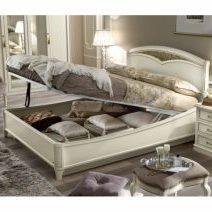 Nosztalgia antik fehér ágyneműtartós franciaágy