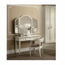 Nosztalgia antik fehér pipere asztal tükörrel