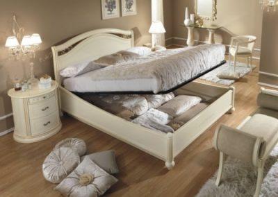 Siena elfántcsontszínű ágyneműtartós ágy