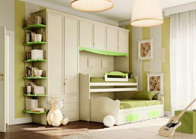 Beverly (fehér-zöld) áthidaló szekrényes kompozíció