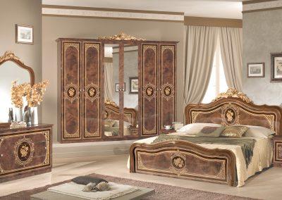 Alice háló dió 6 ajtós szekrénnyel sima fejvéggel