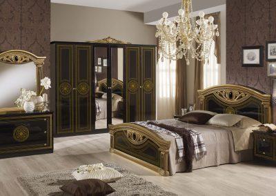 Giulia fekete-arany hálószoba