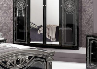 Giulia fekete-ezüst színű ágy