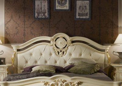 Medea beige ágy tűzött fejvég