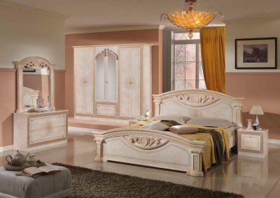 Roma beige 6 ajtós szekrénnyel
