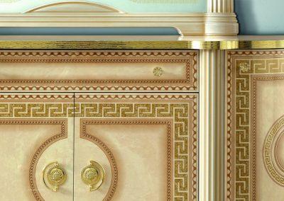 Aida 4 ajtó tálaló szekrény közeli