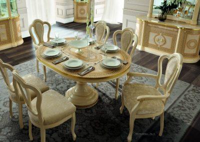 Aida 6 személyes étekező asztal