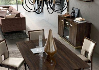 Volare 3 ajtós tálaló szekrény étkező asztallal