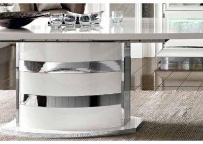 Roma fehér étkező asztal